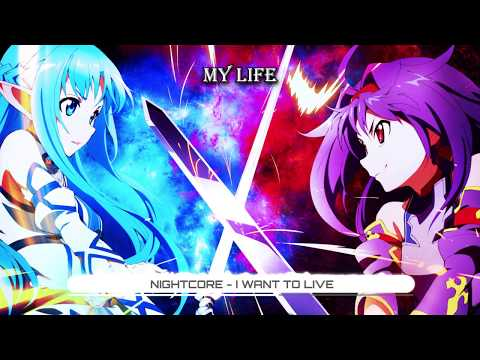 Nightcore i want to live