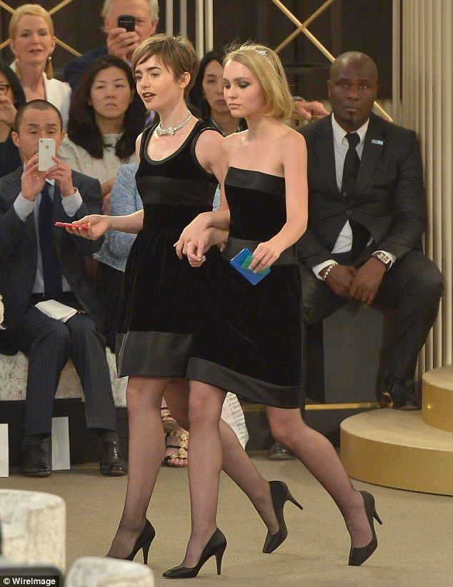 Lily collins in pantyhose