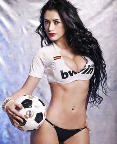 With a sexy female soccer sex